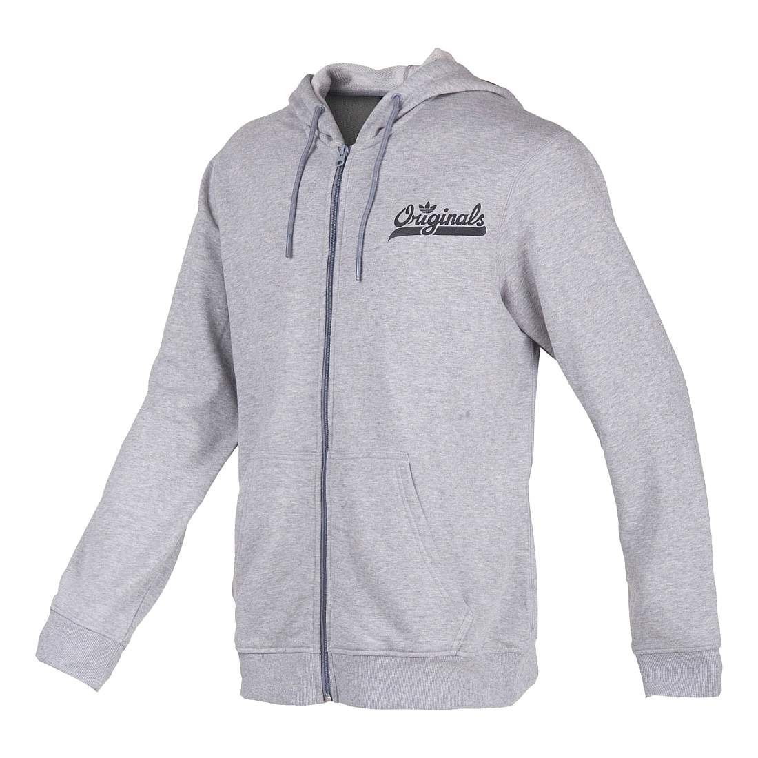 f6a274399 Details about Adidas Mens Grey Black Originals Long Sleeve Graphic Hoodie