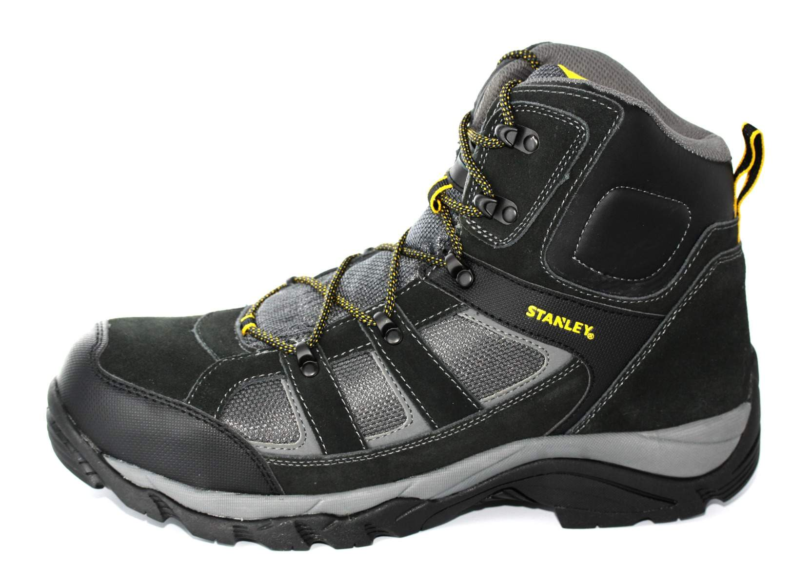 aacad6f1681 Details about Stanley Mens Black Yellow Melrose Safety Work Boots