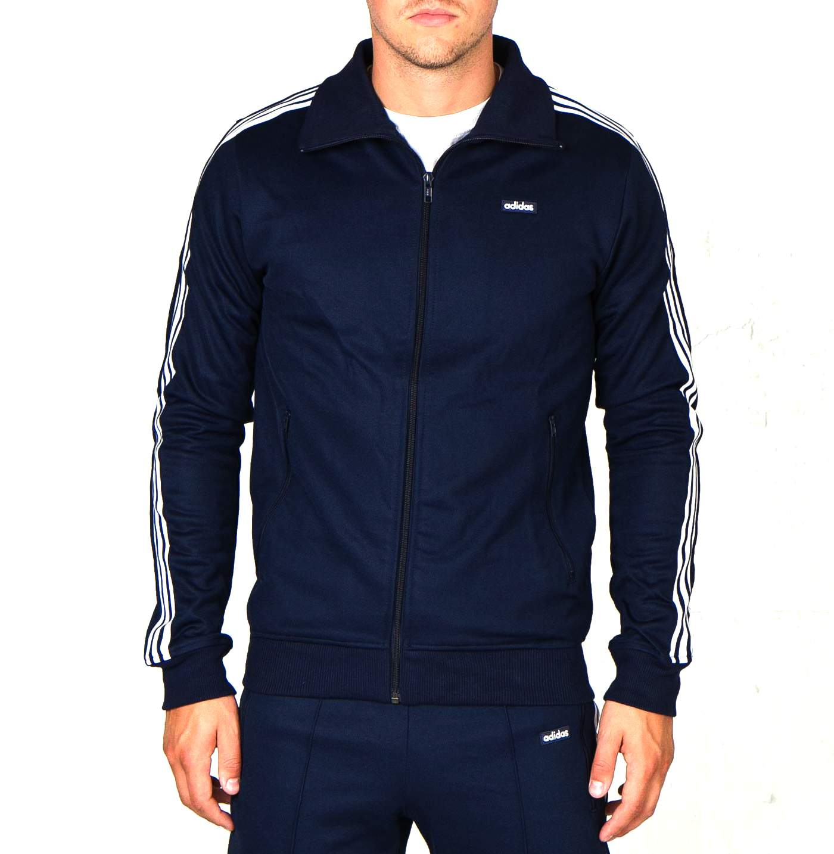 Détails sur Adidas Homme Bleu Marine Blanc Beckenbauer OG TT Veste De Survêtement afficher le titre d'origine