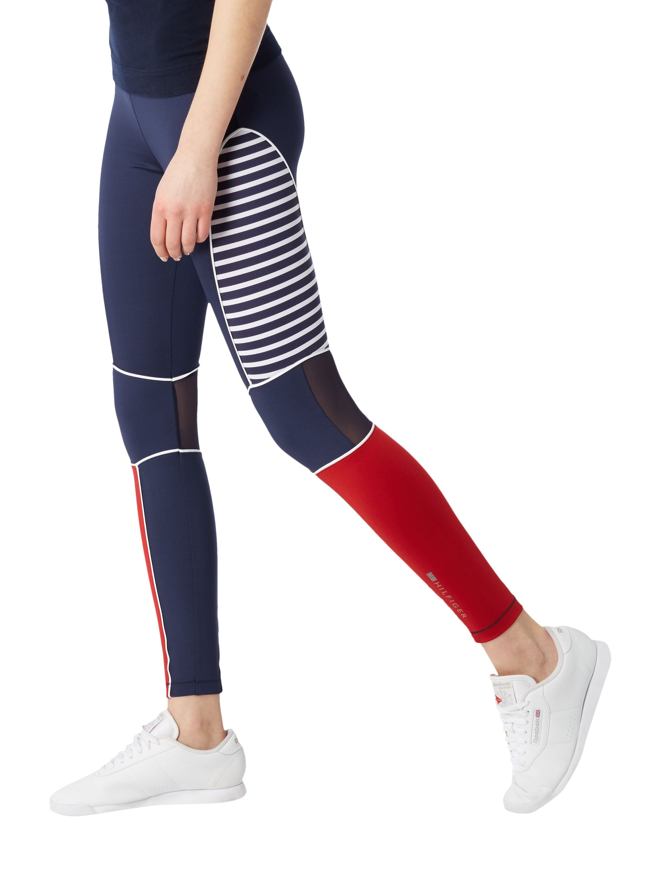 Tommy Hilfiger Womens Blue Rosemary Activewear Leggings Gym Pants Size S