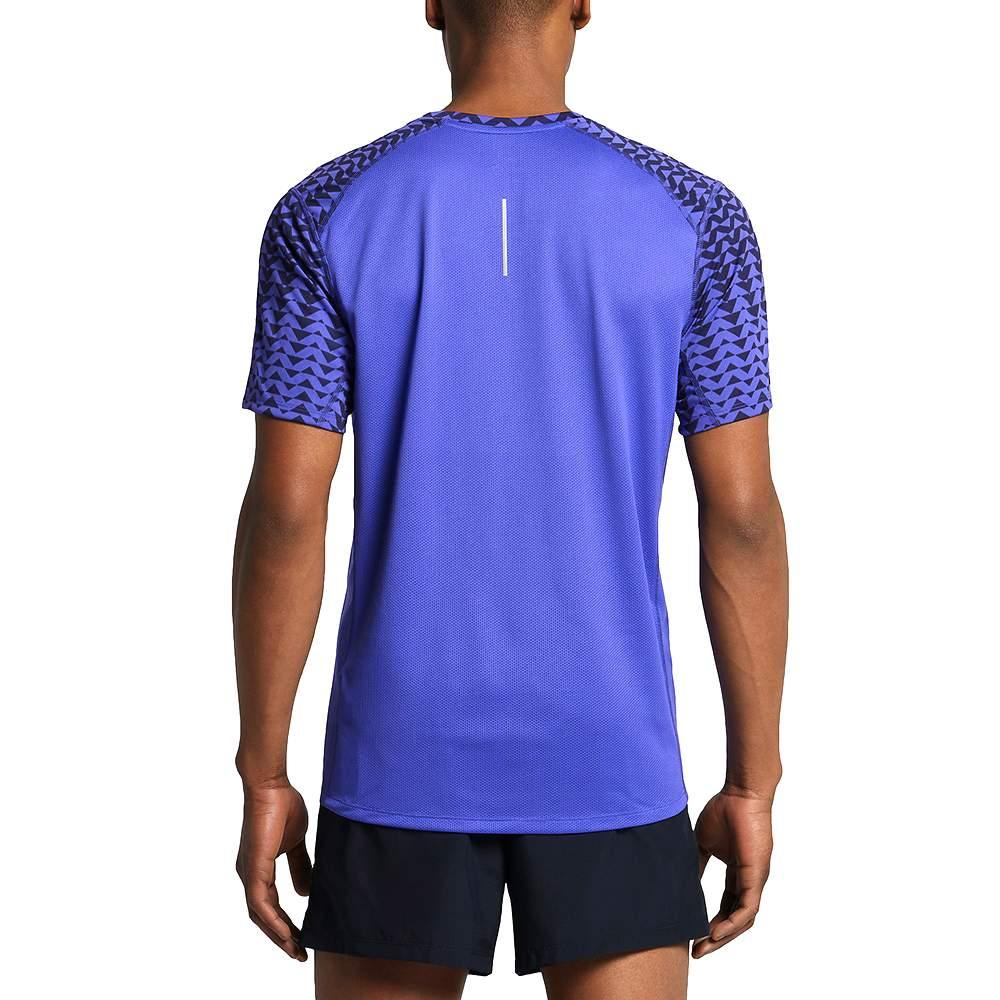 Nike Mens Purple Short Sleeve Miler Top Dri Fit Tee T