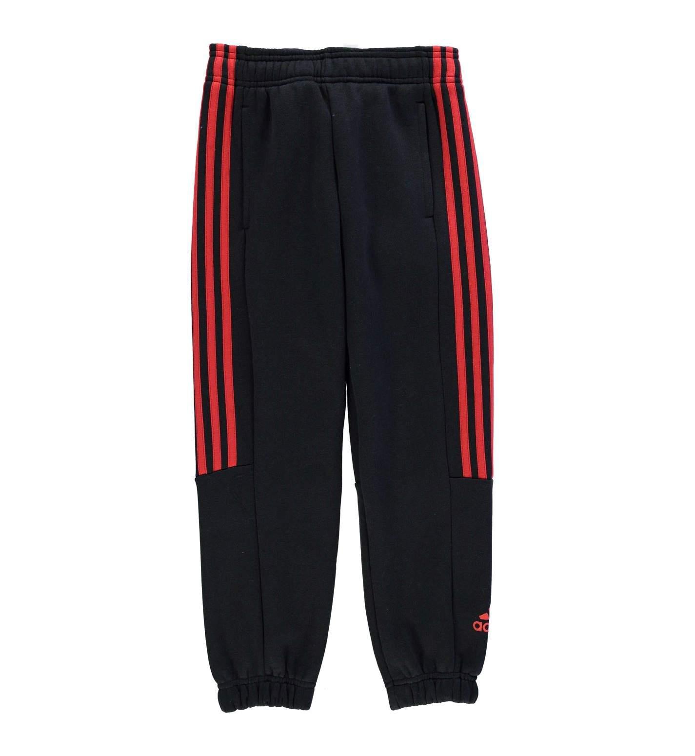 Détails sur Adidas Garçons Noir Rouge Logo 3 S Ch Sweat Pantalon Taille SB 7 8yrs afficher le titre d'origine