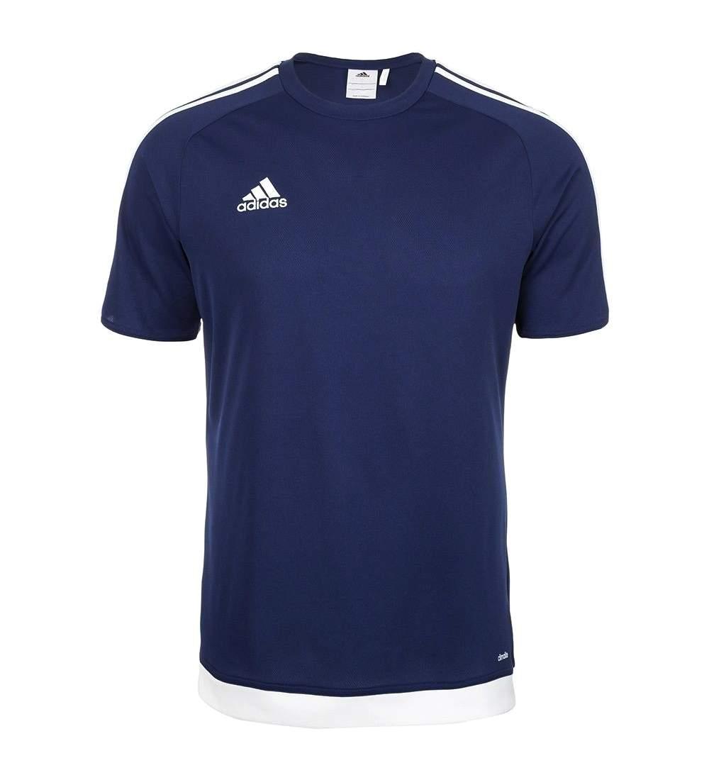 Details about Adidas Mens Dark Blue White Short Sleeve ESTRO 15 Jersey Tee T Shirt