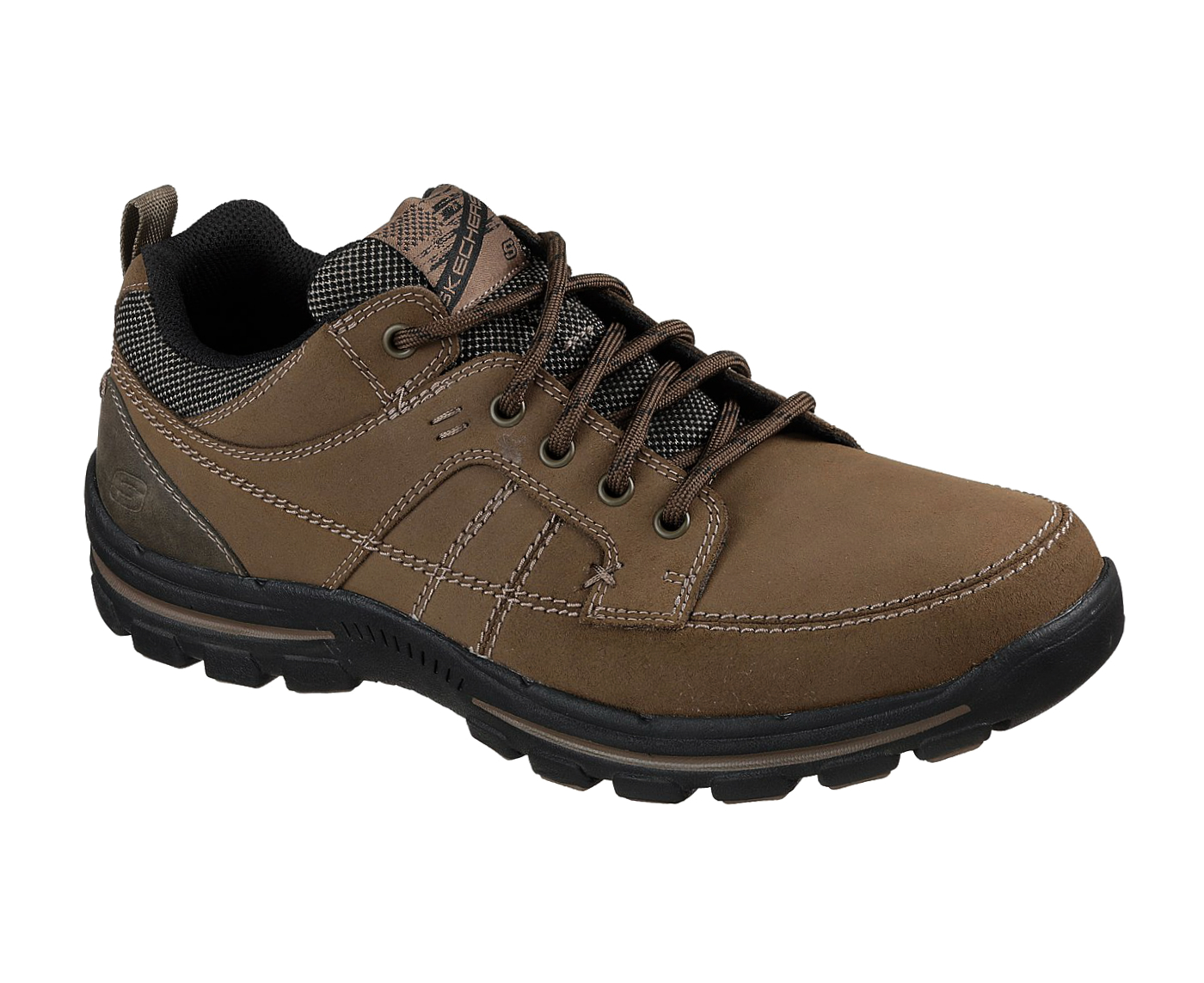 new arrival d5952 16b6b Details zu Skechers Mens Brown Relaxed Fit Braver Ralson Trainers Shoes