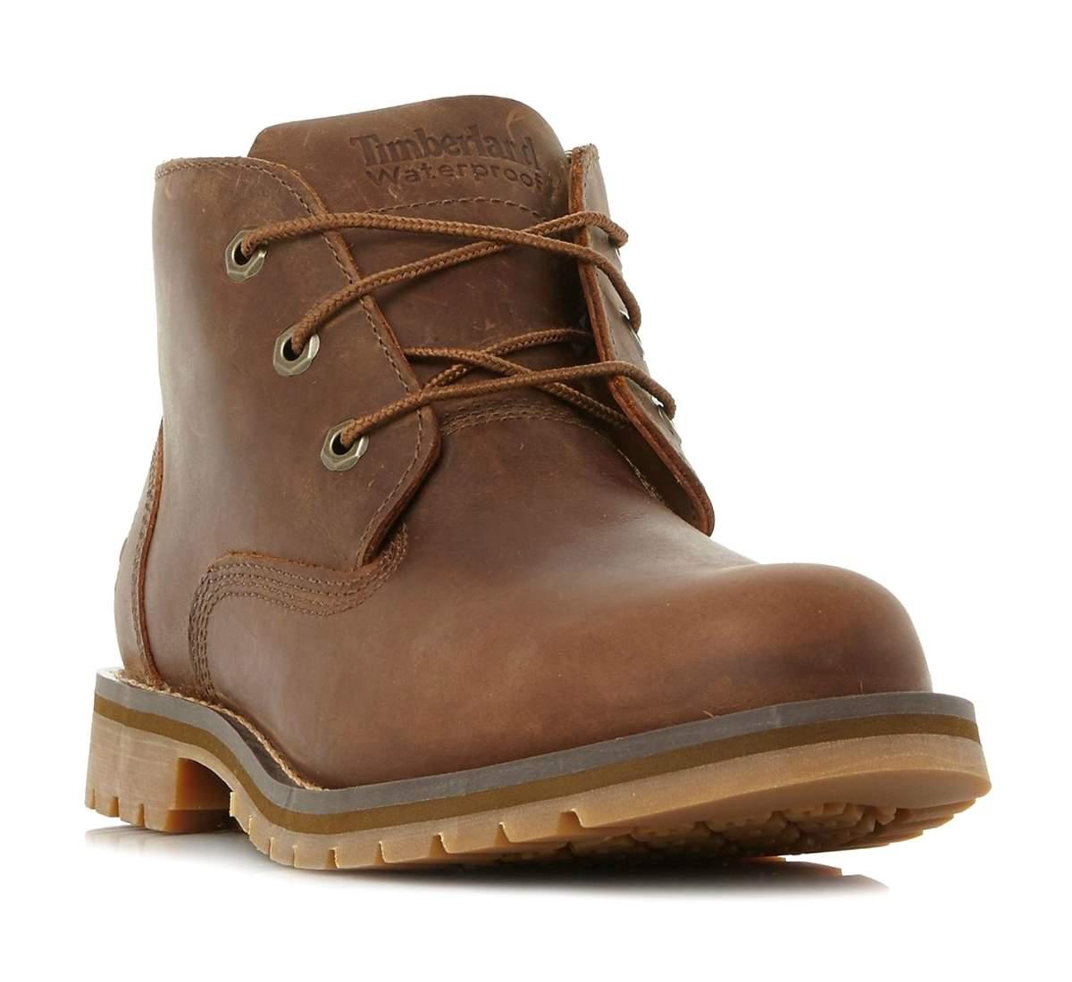 sports shoes 8651c de7e4 Details zu Timberland Mens Brown 3 Eye Waterproof Leather Chukka Boots UK  11 EU 45.5
