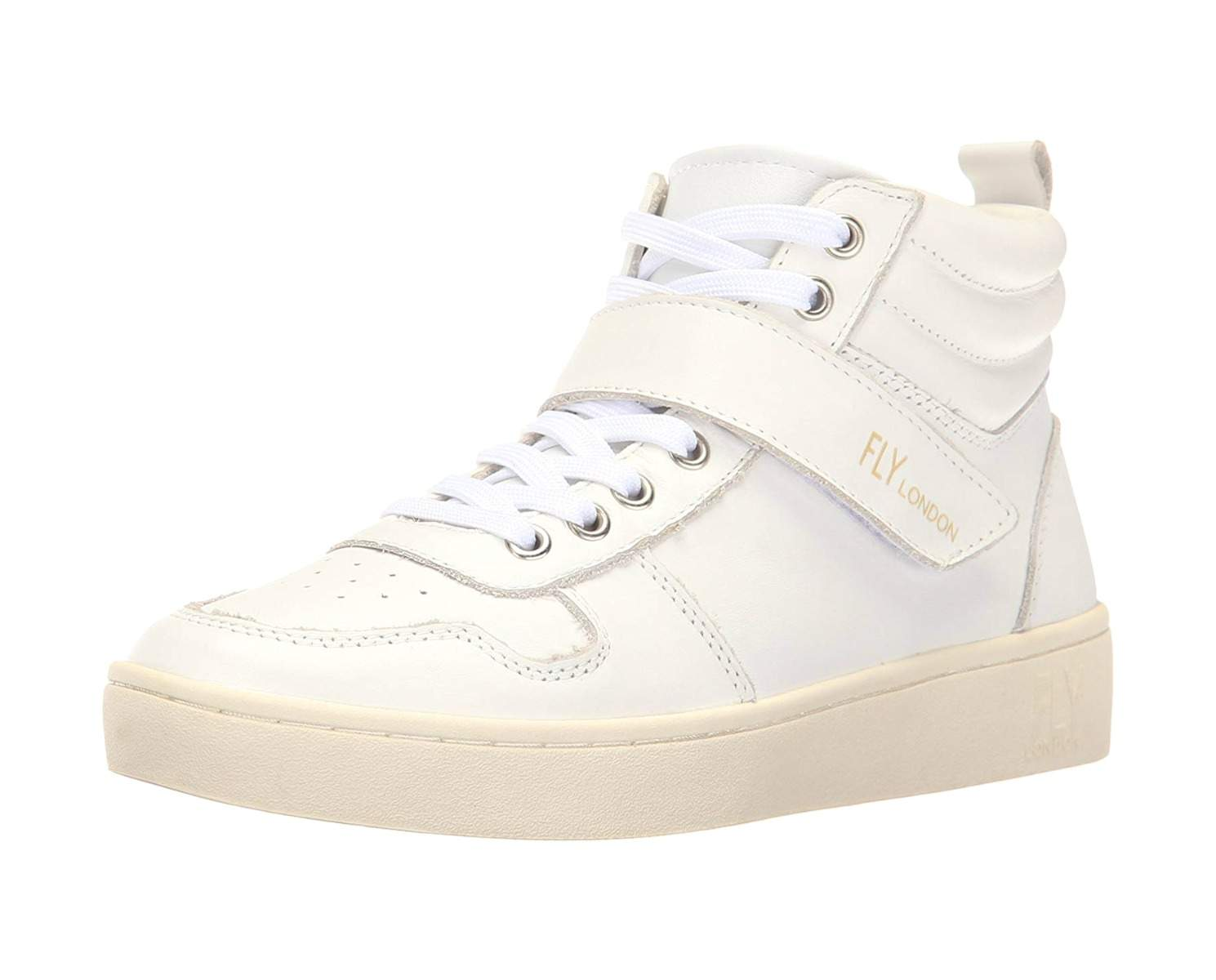 Fly London Womens White Leather Mida